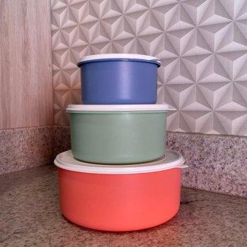 Kit Topa Tudo Potes Hermético PMG - 3 unidades