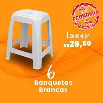 Kit Banqueta Adulta Branca  - 6 peças