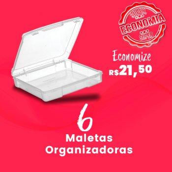 Caixa com 6 Maletas Organizadoras Incolor