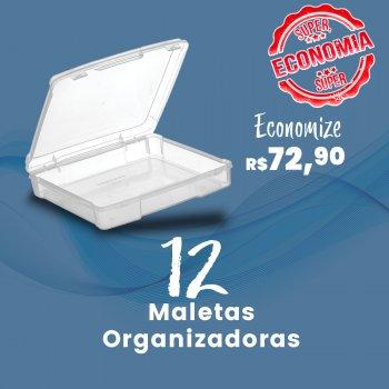 Caixa com 12 Maletas Organizadoras Incolor