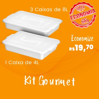 kit Gourmet - 4 Caixas Organizadoras